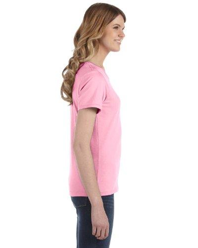 Anvil Damen T-Shirt, leicht tailliert Rosa - CHARITY PINK