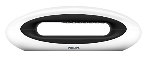 """Philips M5602WG/23 - Teléfono inalámbrico duo con registro de llamadas (pantalla de 1.8"""", manos libres, ECO plus), blanco y negro"""