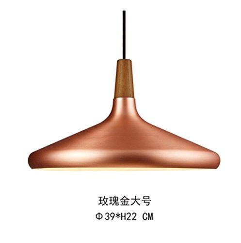 ShengYe style rustique plafonnier lampe Suspension Lustre Lustre lustre bar restaurant retro noyer industriel metal sol encore de flottement or rose lustre 39*22cm
