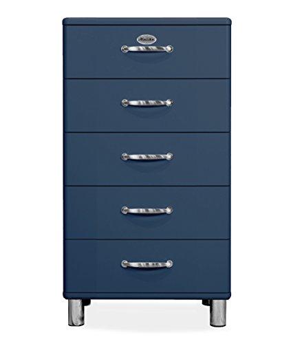 Tenzo 5215-023 Malibu Designer Kommode Holz, petrol, 41 x 60 x 111 cm