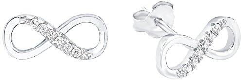 Amor Damen-Ohrstecker Infinity / Unendlichkeitszeichen 925 Silber rhodiniert Zirkonia weiß - 509961