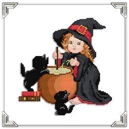 Kreuzstichvorlage Stickvorlage -Witch ()
