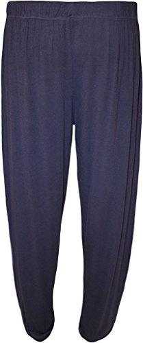 WearAll - Grande taille pantalon de harem - Pantalons - Femmes - Tailles 42 à 58 Bleu Marine