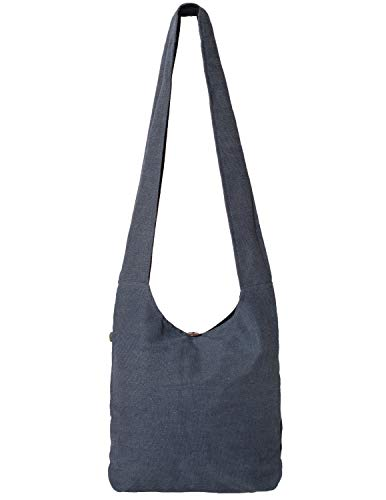 Vishes - Stoff Shopper Stofftasche Einkaufstasche Umhängetasche große Beuteltasche Schultertasche - Damen Herren grau