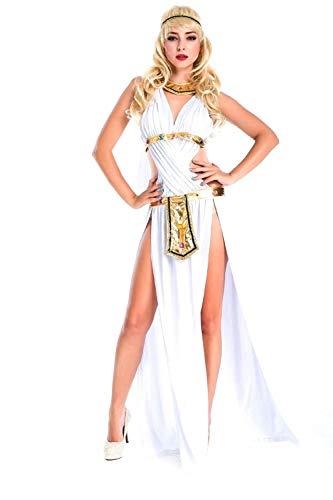 Cleopatra Sexy Kostüm - Hcxbb-b Cleopatra Kostüm-Damen Halloween Kleid Weiß Sexy Göttin Cosplay Nachtclub Bar Party Festival Performance Kostüm (Farbe : -, Size : -)