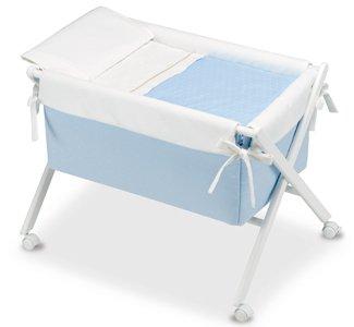 Vestidura para Minicuna Dots Blanco y Azul