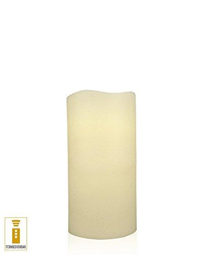 Decoración de luz LED vela de cera de bienes 10 x 20 cm Control remoto temporizador de marfil