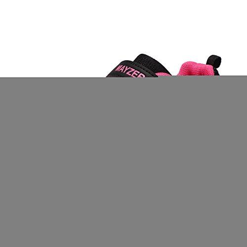 Mayzero bambina scarpe da ginnastica ragazzo ragazza scarpe unisex kids scarpe da corsa leggera in mesh atletico leggero per ragazzi ragazze sneaker (27 eu, nero#1)