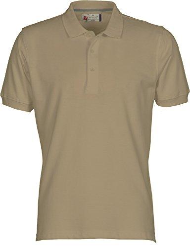 Herren Polohemd Venice Baumwolle Größe S bis 5XL kurzarm 3 Knöpfe Nackenband Taupe