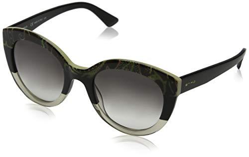Etro et600s 007 52 occhiali da sole, nero (paisley/black), donna
