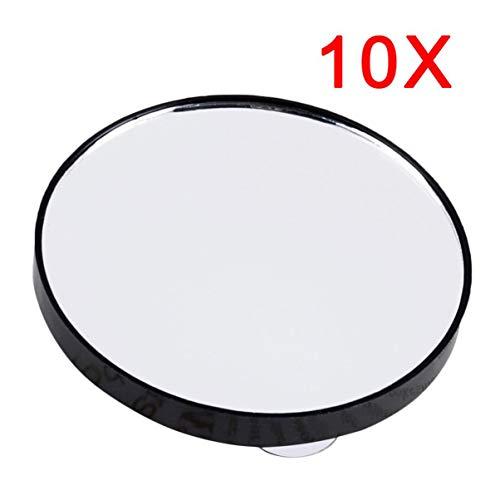 Monllack Kosmetikspiegel 5X 10X 15X Vergrößerungsspiegel mit Zwei Saugnäpfen Kosmetik Werkzeuge Mini Runder Spiegel Badezimmerspiegel -