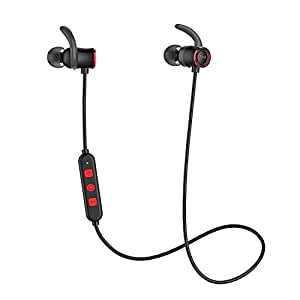 Sport-Kopfhörer, Tribit XFree, Bluetooth, mit Mikrofon, 10 Stunden Akkuleistung, wasserfeste Nanobeschichtung, magnetische Verbindung, HD-Stereo-Rauschunterdrückung, Sport-Ohrhörer für das Fitnesstudio (Red)