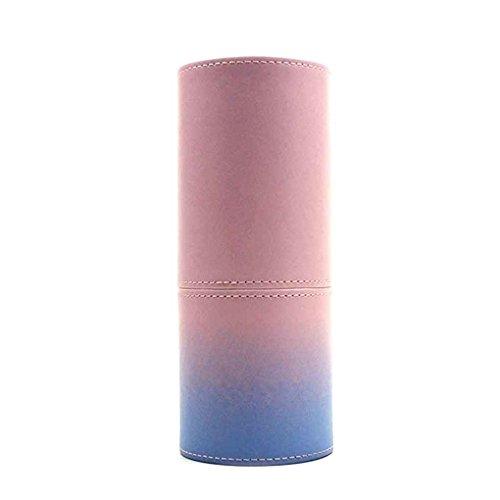 Fish PU-Leder-kosmetische Bürste-Cup-Behälter-Kasten-beweglicher Spielraum-Verfassungs-Bürsten-Round Pen-Halter-Organisator-Verfassungs-Werkzeug (Truhe Werkzeug Kasten)