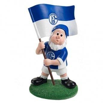 FC Schalke 04 Gartenzwerg mit Fahne