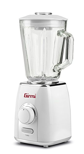 Girmi FR76 Batidora de vaso 1.5L 600W Transparente, Color blanco - Licuadora (1,5 L, Botones, Giratorio, Batidora de vaso, Transparente, Blanco, CE, Acero inoxidable)