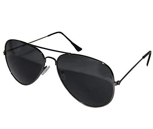 Foxxeo FO35321 | Schwarze Pilotenbrille Party Brille Pilot Cool - Coole Herren Kostüm