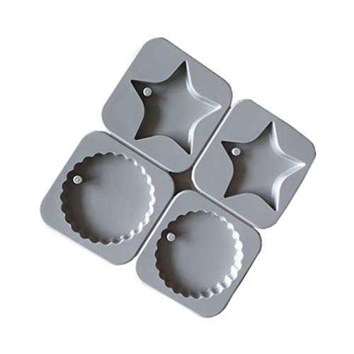 LEVEL GREAT 4 Slots Praline Zucker Loving Heart Shaped Sterne Soap Hersteller-Kuchen-Dekorationen Silikon-Form