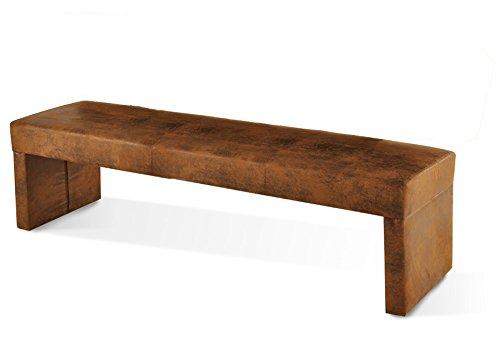 SAM Esszimmer Sitzbank Roca in wildlederoptik Stoff Bank 200 cm schlicht pflegeleichte Oberfläche angenehmer Sitzkomfort