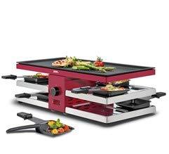 Spring Raclette 8 Fun Rot mit Alugrillplatte EU
