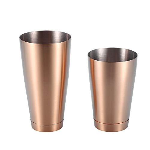 Boston Shaker Edelstahl Robust Langlebig Cocktail Cup Shaker Bar Home Kitchen Tool(rose golden)