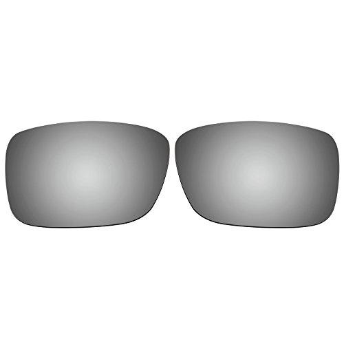 Acompatible OO9165 Ersatzgläser für Sonnenbrille Oakley Crankcase, Titanium Mirror - Polarized