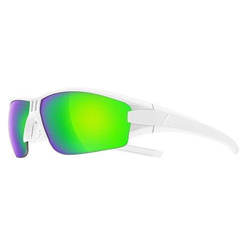 24d6c0c1e3 adidas Eyewear Uomo Evil Eye halfrim Occhiali Occhiali da Bicicletta Nuovo,  White Matt/Green
