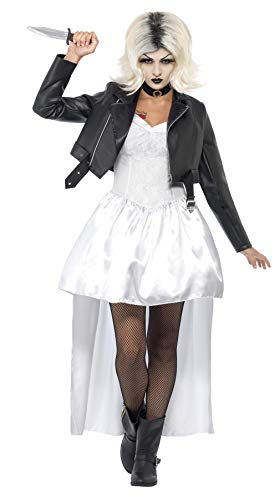 Smiffys Chuckys Braut Halloween Damen Kostüm Chucky Halloweenkostüm Damenkostüm Gr. M, Größe:M