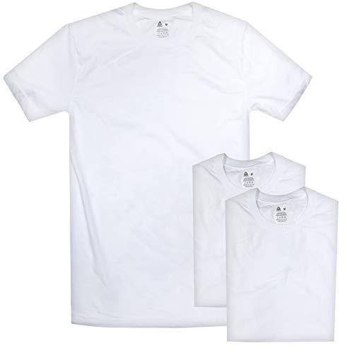 Reebok Herren T-Shirt Rundhalsausschnitt, 3er-Pack - Weiß - Medium -
