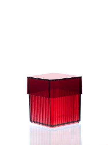 Authentics Boite À Coton Tige Rouge Design Kali Box