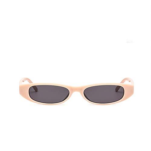 txyang Retro Sonnenbrille weibliche Katzenaugen Dame kleiner Rahmen schwarz rote Sonnenbrille Retro-Brille