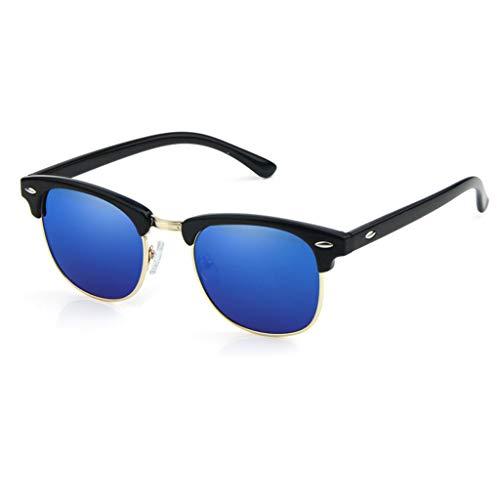RJYJ Mode Polarisierte Sonnenbrille Frauen PC Objektiv Full Frame, Ultraleichter 30g UV-Schutz (Color : Blue)
