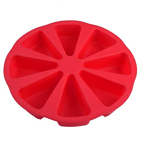 Star Supermarket Baking Molds Triangle Cavity Silicone 8 Red Silicone Portion Cake Mold Soap Mould Pizza Slices Pan Pizza Baking Pan
