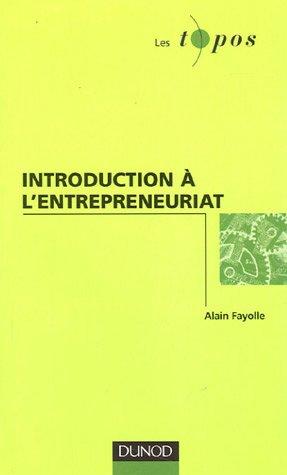 Introduction  l'entreprenariat