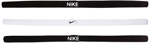 Nike Elastic Hairbands 3 Pack black/white/black