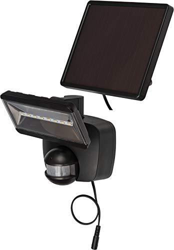 Brennenstuhl Solar LED-Strahler SOL 800 / LED-Strahler für außen mit Bewegungsmelder und Solar-Panel (IP44, inkl. Akku, LG SMD-LEDs, 400lm) schwarz