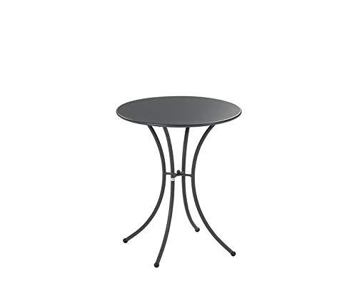 Emu Table pour extérieur Pigalle Kiss diamètre 60 cm en Fer zingué et Verni à poussières - Couleur Fer Ancien Fantaisie 22 - Produit fabriqué en Italie