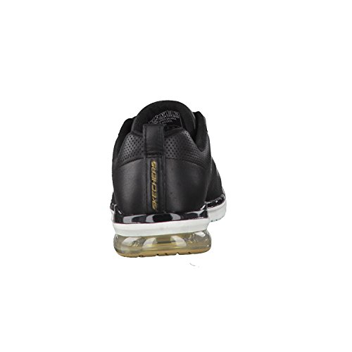 Donne Skechers 36 37 38 39 40 41 in pelle nera intercambiabile Nero / Oro