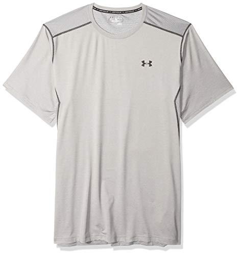 Under Armour Herren UA RAID SS' Kurzarmshirt Fitness-T-Shirts & Tanks, True Gray Heather/Black (025), 4XL - Athletic Gray Heather