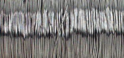 Rayher 2405522 Schmuck-Häkeldraht, 0,30 mm ø, Spule 50 m, silber