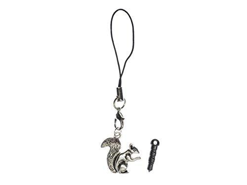 Miniblings Eichhörnchen Handyanhänger Anhänger Nagetier Tier Eichkätzchen Silber -