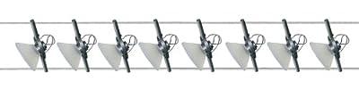 Paulmann 97122 Wire System Verre satin 300 8x35W GU4 Titan/Satin 230/12V 300VA Metall/Glas von Paulmann Leuchten bei Lampenhans.de