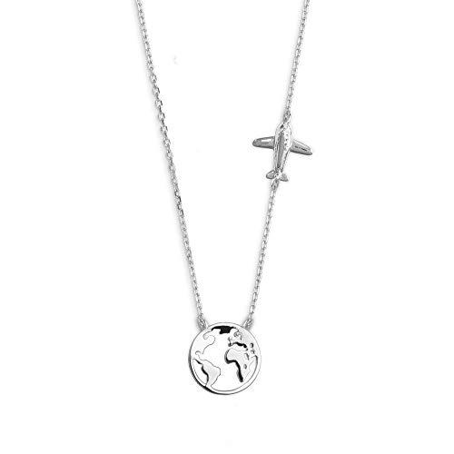 Xenox Damen Silber-Halskette Wanderlust XS3161