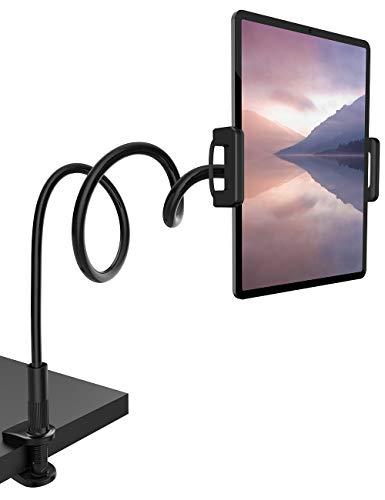 Lamicall Tablet Halter, Schwanenhals Tablet Halterung - Flexible Einstellbare Lazy Lang Arm Ständer für Pad Mini 2 3 4, Neu Pad Pro 2019, Pad Air, Phone, und Weitere 4,7-10,5 Zoll Geräte - Schwarz