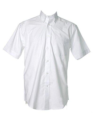 Kustom Kit neue Pollycotton Arbeitsplatz Oxford Herren Short Sleeved Shirt Weiß