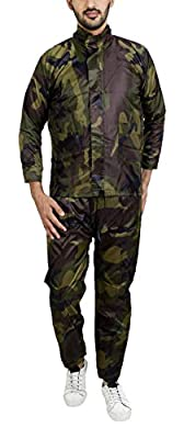 Zacharias Unisex Semi Nylon Raincoat Set (Multi-Coloured)