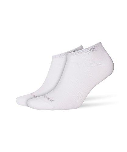 Burlington Damen Everyday Fã¼ãŸlinge Einfarbig Baumwolle 2 Paar Sneakersocken, Blickdicht, Weiss, 36-41 (2erPack)