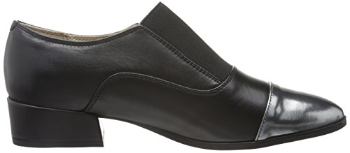 Clarks Damen Rey Chic Slipper Schwarz (Black Leather)
