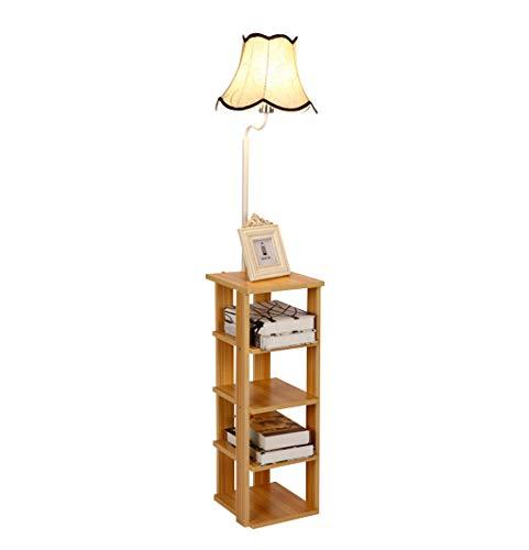 GJIF - Stehlampe Massivholz Stehleuchte Designer-Innenbeleuchtung Stehleuchte Antik Geeignet für Wohnzimmer Schlafzimmer - Fußschalter (E27)