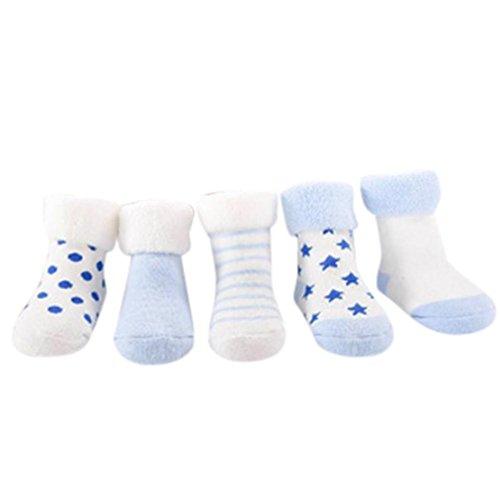 ece08ab6bd95b 0-24 M Bebe Naissance Chausettes 5 Pairs Uni Chausson Cotton Anti-slip Cute