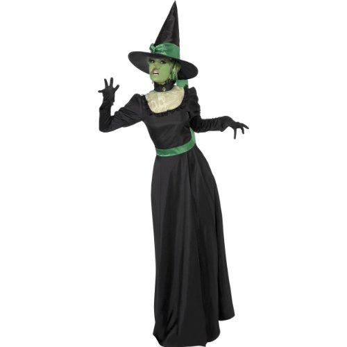Halloween Damen Kostüm böse Hexe als Wicked Magierin Gr.L